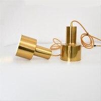 Denmark Copper Metal Led Pendant Light for Dining Room Bar Foyer Bed Room Metal Modern Simple E27 Suspension 1969