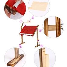 Support réglable en bois massif pour point de croix   Bureau debout en bois, cadre de broderie pour point de croix, outil de point de croix chinois