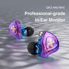 QKZ AK6 MAX In-Ear Headphones For Xiaomi Earphone For Phone Stereo Bass Headset Metal Wired Earphone