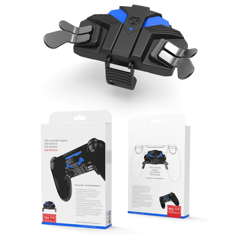 Gamepad botón trasero con tecla extendida Turbo función para SO-NY mando PS4 Gadgets para consolas de juegos