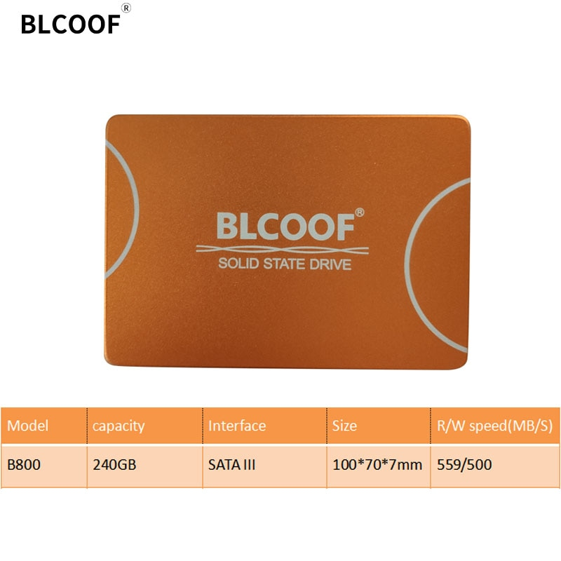 BLCOOF HDD SATAIII 2.5 Inch SSD 240GB internal solid state disco duro SSD 559/500MB/S hard drives disk For Computer laptop PC