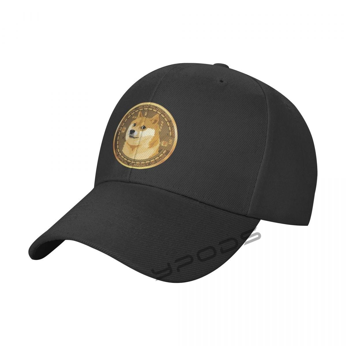 Однотонные бейсбольные кепки Dogecoin, смешные биткоины разных цветов, мужские и женские кепки с козырьком, регулируемые повседневные спортивн...