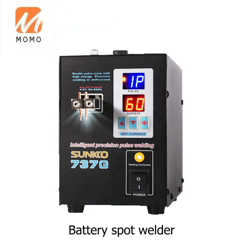 LED Lighting Double Digital Display Double Pulse Welding Machine 737G Spot-Welder 1.5KW Suitable for 18650 Batteries enlarge