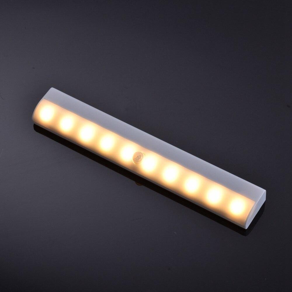 Under Cabinet Lighting 10 LED Closet Light Motion Sensor Lights Battery Powered Wireless Wardrobe Light Stair Light