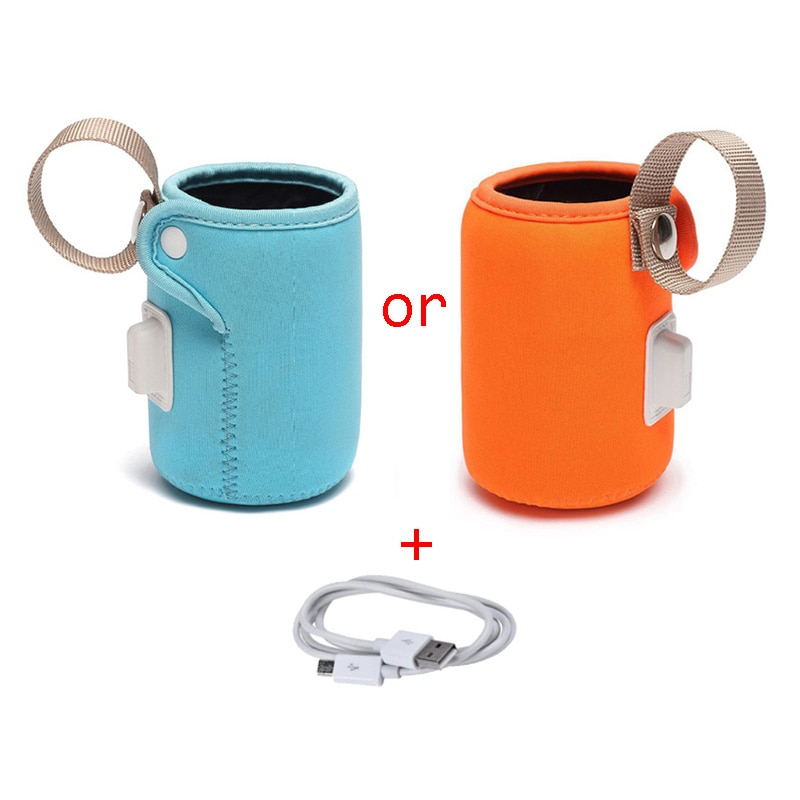 Milk Warmer USB Feeding Bottle Heating Cup Set Kids Bottle Portable Anti-scalding Anti-slip Insulation Bag