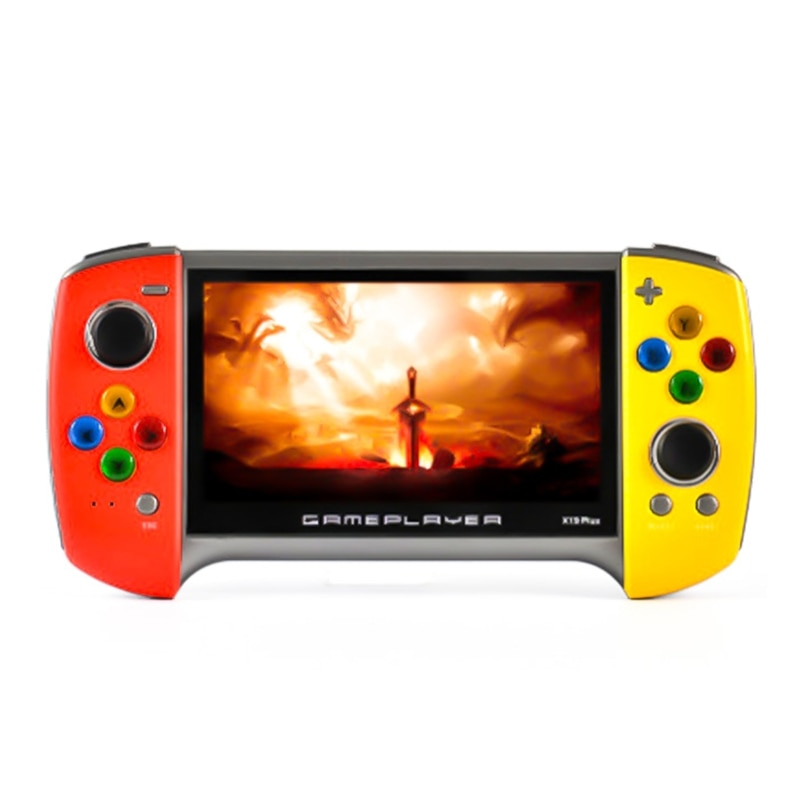 LX9A X19 Plus Handheld Game Console 5.1 Inch Large Screen 1000 Classic Games 360 Degree Double-rocker