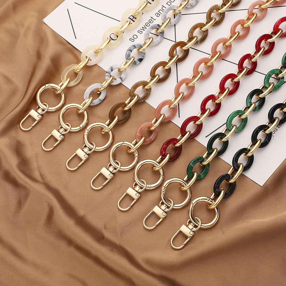 Chaîne de sac à main en acrylique tout-assorti, accessoires de sangle à bandoulière simple, nouvelle mode