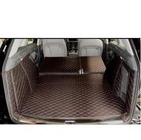 leather car trunk mat cargo liner for audi q5 2008 2009 2010 2011 2012 2013 2014 2015 rug carpet accessories