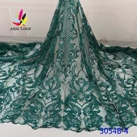 beaded embroidery bridal laces fabrics emerald green color flower elegant french african nigerian latest design new style