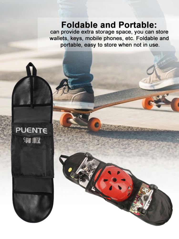 Водонепроницаемая сумка для скейтборда, сумка на одно плечо для скейтборда, сумка для приема, защитный рюкзак с регулируемыми ремешками, су...