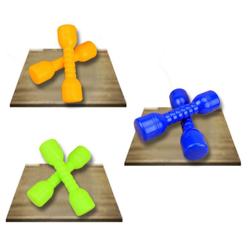Пара детских гантели, детские игрушки гантели на открытом воздухе, экологически чистые пластиковые тренажеры для фитнеса