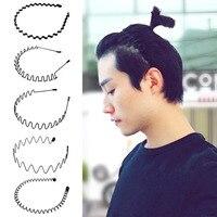Повязка для волос спиральная из металла для мужчин и женщин, 5 шт., нескользящая, гибкая, спортивная