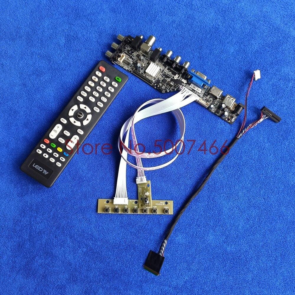 ل LP133WH2-TLA1/TLA2/TLA3/TLA4 لوحة DVB الرقمية VGA USB TV 3663 العالمي LVDS 40 دبوس 1366*768 وحدة تحكم بشاشة إل سي دي مجلس عدة