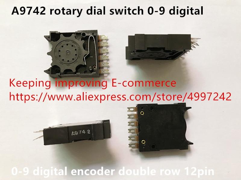 Interruptor de dial rotativo A9742 importado de México Original nuevo 100% codificador digital 0-9 de doble fila de 12 pines