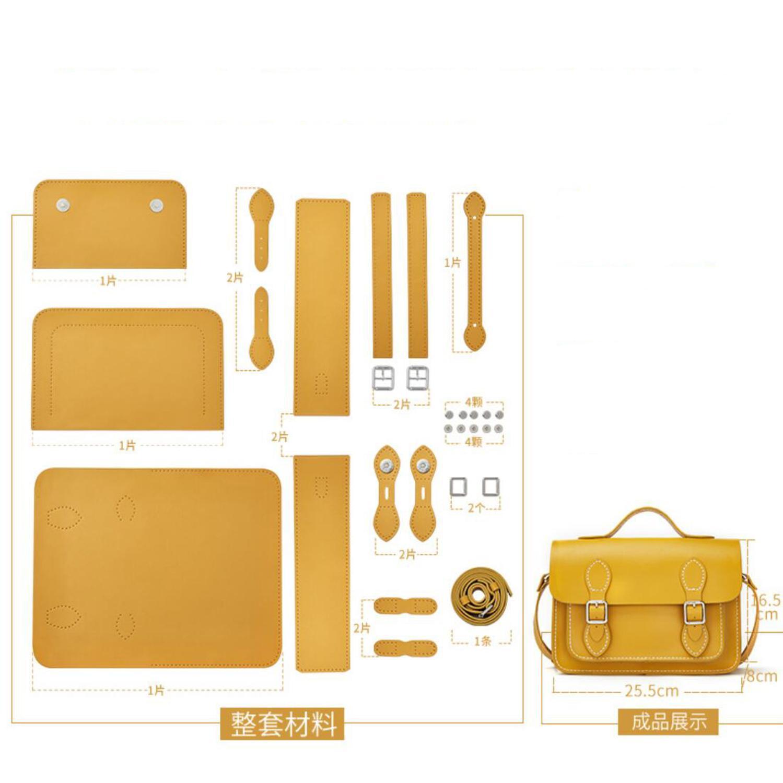 Bolsas de couro diy para as mulheres 2020 novo mensageiro saco estilo faculdade cambridge artesanal caseiro com conjunto completo de materiais