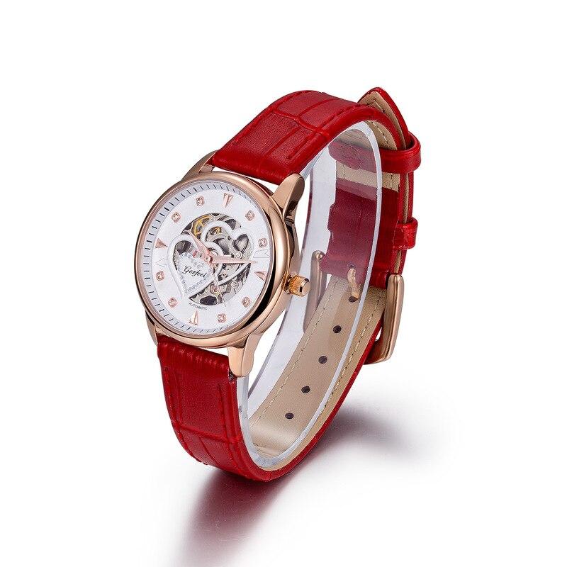 2020 사용자 정의 스테인레스 스틸 여성용 시계 패션 완전 자동 기계식 손목 시계 Wechat 비즈니스 소스 원피스