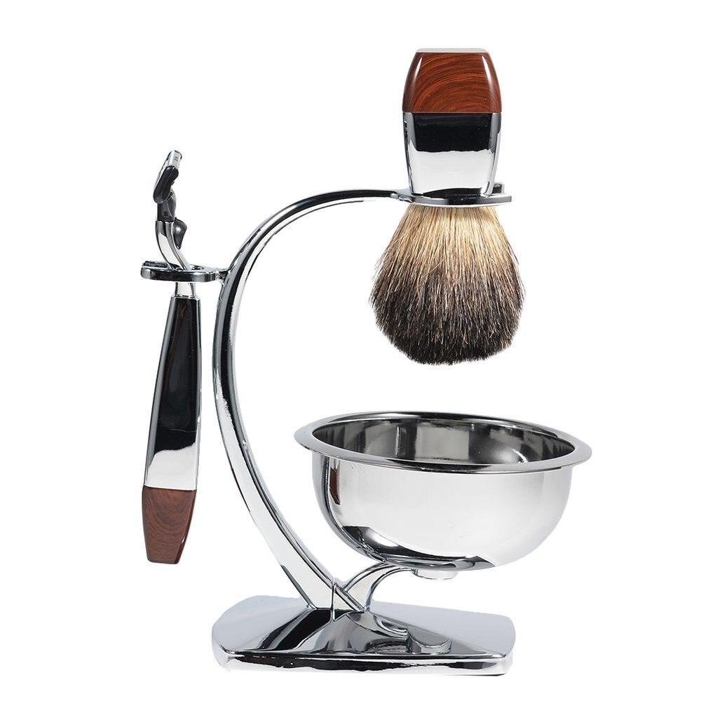 Men's Retro Manual Razor Set Razor Shaving Brush Shaving Brush Rack Portable For Travel Durable 5 Sets
