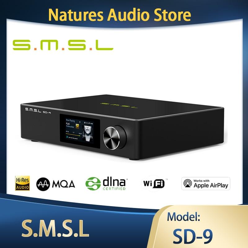 SMSL SD-9 MQA HIFI شبكة مشغل موسيقى SD9 دعم DSD ، WAV APE ، FLAC AIFF ، مشغل MP3 سطح المكتب