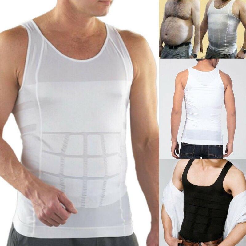 2019 été mâle coton réservoir hauts hommes corps minceur ventre corset shapewear taille ceinture abdominale gilet S-2XL