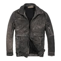 classic free shippingbrand style leather jacket man slim vintage 100 cowhide jackets high quality motor coat sales60 110kgs