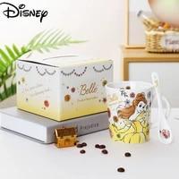disney ceramic mug cute cartoon printing mug simple large capacity coffee cup breakfast cup milk cup collection cup