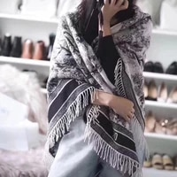 180 70 CM Cashmere long Scarf for women forest shawl 2021 autumn winter brand
