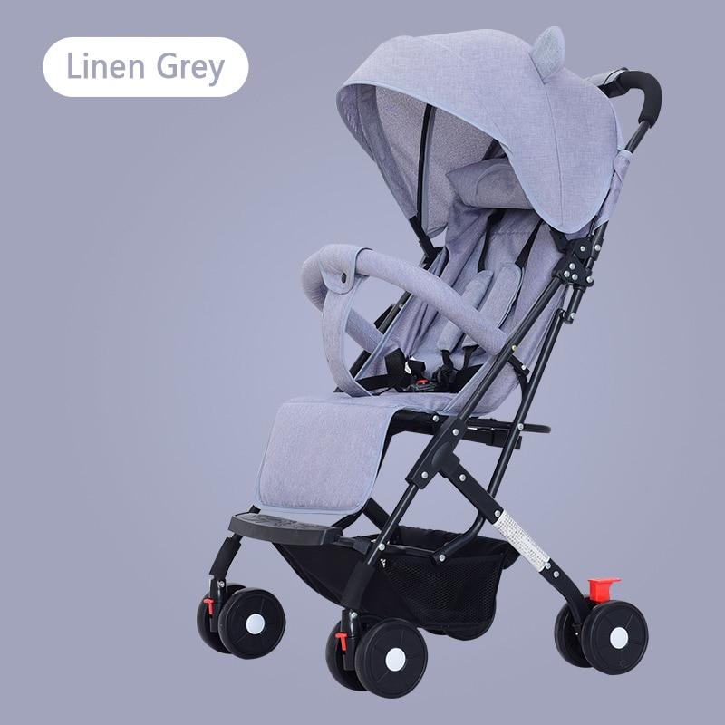 New Folding Lightweight Stroller Four-wheel High Landscape Stroller Child Dining Chair Trolley enlarge