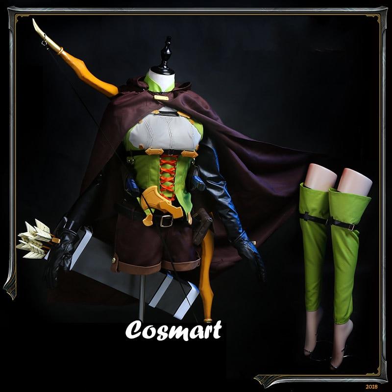 أنيمي عفريت القاتل عالية Elf آرتشر معركة موحدة تأثيري حلي مخصصة للجنسين هالوين الدعاوى للكبار جديد 2
