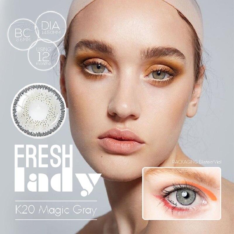 FRESH LADY Magic Series lentes de contacto coloreadas ojo Natural lentes de contacto Color lentes de contacto para ojos (2 unids/par)