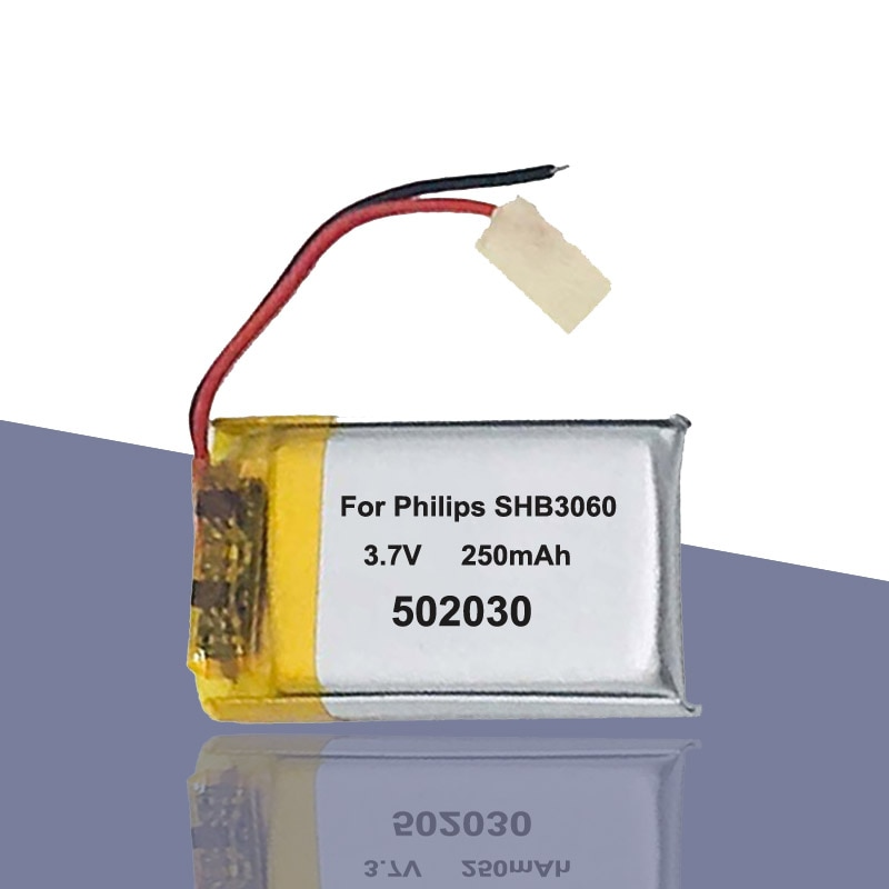 250 mah 502030 052030 bateria para philips shb3060 bluetooth fone de ouvido mp3 mp4 mp5 diy brinquedo batterie acumulador akku