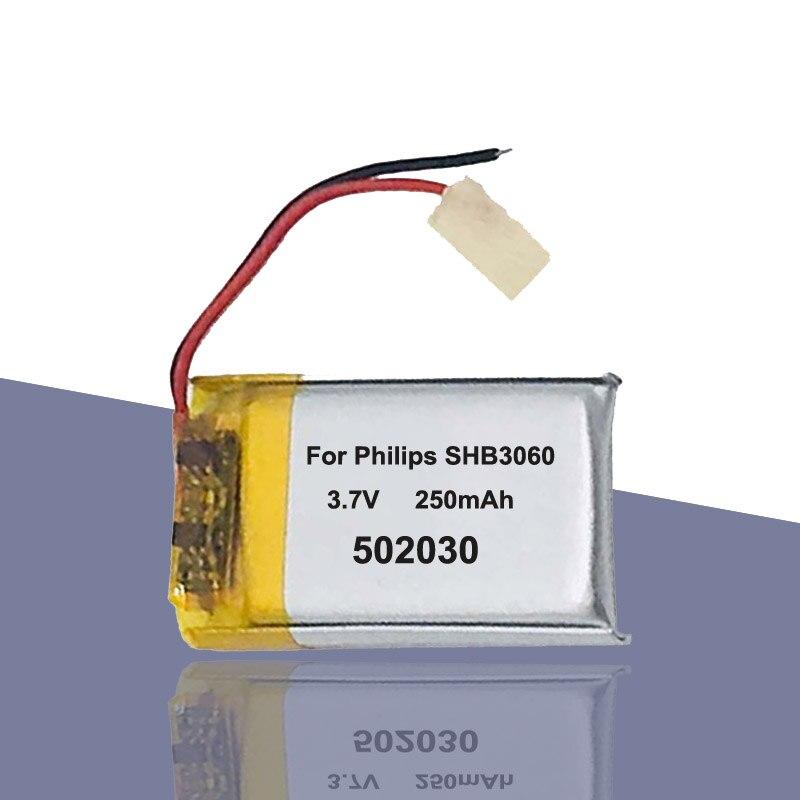 Batería 250mAh 502030 052030 para Philips shb3060 Bluetooth auricular MP3 MP4 MP5 DIY juguete acumulador AKKU