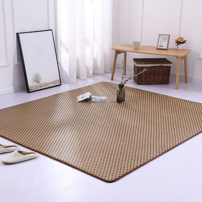 الروطان السجاد 2 سنتيمتر سميكة اليابانية نمط الحصير الكلمة حصيرة أكبر البساط لغرفة المعيشة غرفة نوم لينة غرفة الطفل السجاد ديكور المنزل