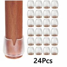 24 stücke Silikon Stuhl Kappen Tisch Fuß Pads für Runde 12-16mm Boden Rutschfeste Möbel Abdeckungen socken Boden Protektoren Fuß Pad