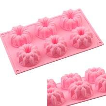Moules à gâteaux en Silicone 6 cavité   Forme de fleur, moules de cuisson au chocolat, plateaux à glace décoratifs pour gâteau fait maison, décoration de gâteau, bricolage