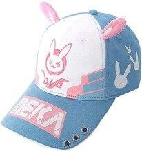 Sombrero de moda Dva Overwatch Dva Bunny Ear gorra de béisbol Dva encantadores accesorios de disfraces sombrero con tatuaje