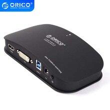ORICO DHU3B-BK USB3.0 vers DVI/HDMI convertisseur de moniteur externe connecteur contrôleur graphique pour 6 Extension décran dordinateur-noir