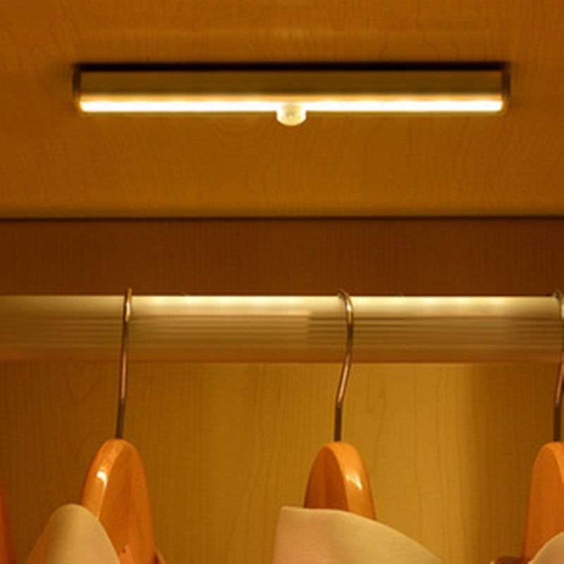 Светодиодная подсветка под шкаф светодиодная лампа пассивного инфракрасного движения Сенсор лампа 6/10 светодиоды освещение для шкаф Кухня ...