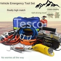 car first aid kit self driving off road emergency equipment double cylinder air pump