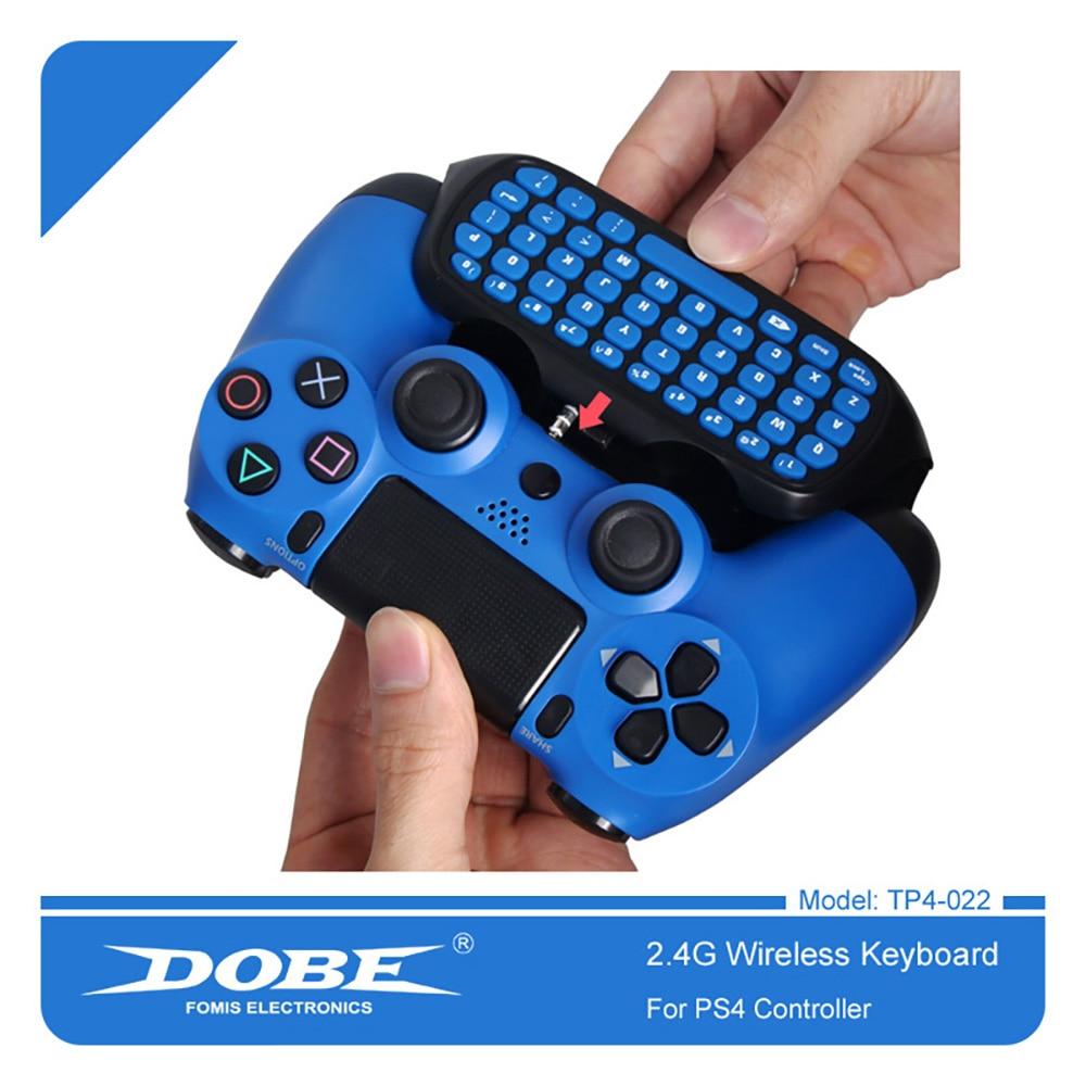 Teclado controlador inalámbrico DOBE 2,4G para PS4 Control de Mando profesional Delgado marca patentada teclado Mini externo 022