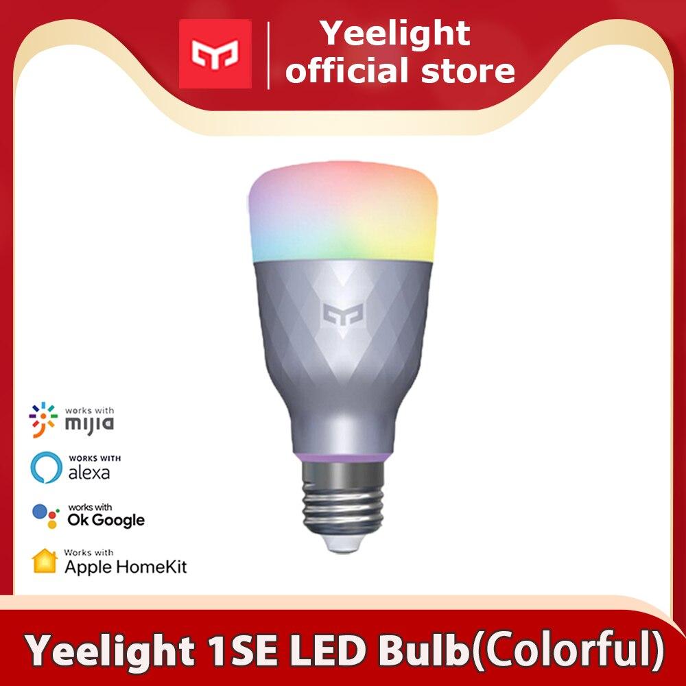 Yeelight الذكية LED لمبة مصباح الذكية 1S/1SE الملونة مصباح 800/650 لومينز E27 ل mi المنزل App جوجل مساعد
