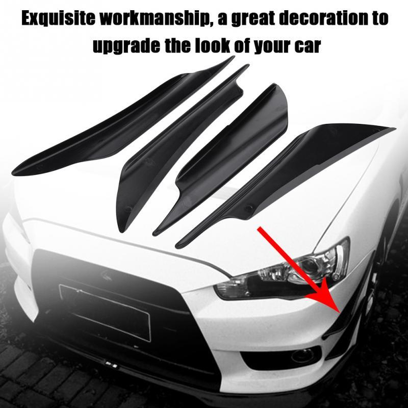 Parachoques del coche aletas conservas de labios del divisor del Fin cuchillo de aire para BMW M8 M550i M550d M4 M3 M240i M140i 530i 128i i8 Z4 X5 X4