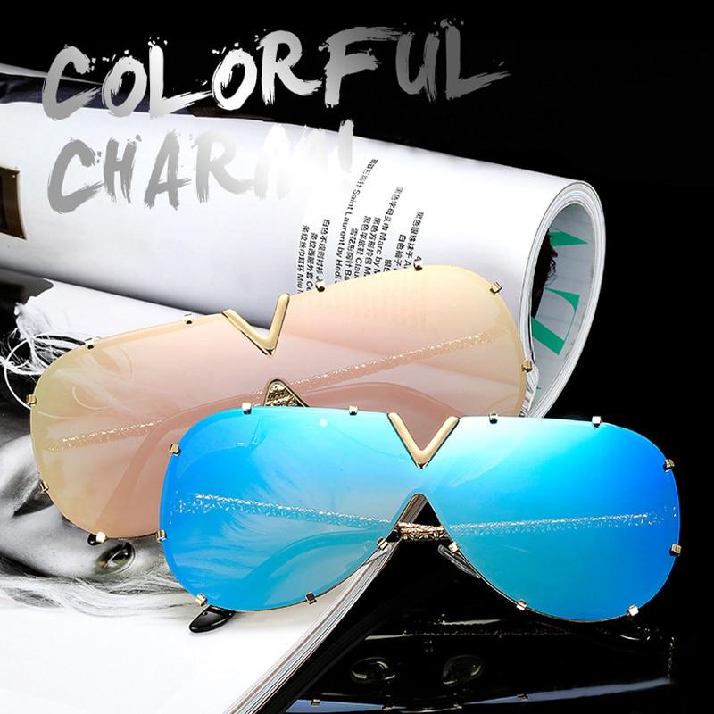Мужские солнцезащитные очки, модные солнцезащитные очки большого размера, мужские брендовые дизайнерские очки, женские стильные солнцезащ...