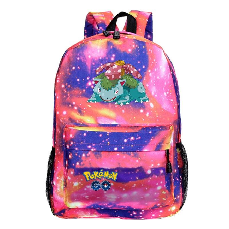 Sac A Dos Pikachu Backpack Plecak Travel Laptop Unisex Anime Mochila Pokemon Backbag 33-36 Cartoon School Bags For Teenage Girls