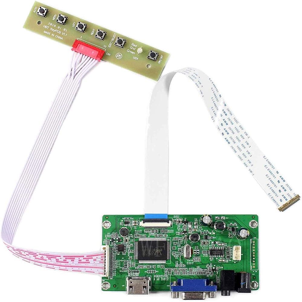Nova placa de controle edp monitor kit para N173FGE-E13 N173FGE-E23 hdmi + vga lcd led placa controlador driver