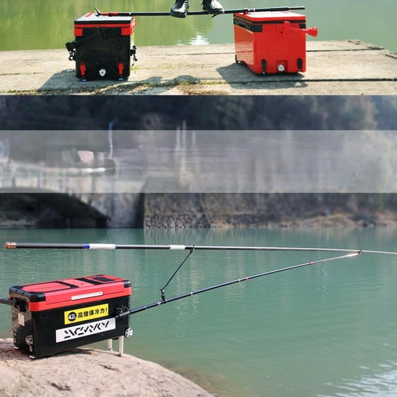 Fishing Rod Bracket Bold Super Hard Carbon Fortress Bracket Long Fishing Rod Rod Holder Rod with Ground Plug 2.4m 3.0m 4.0m enlarge