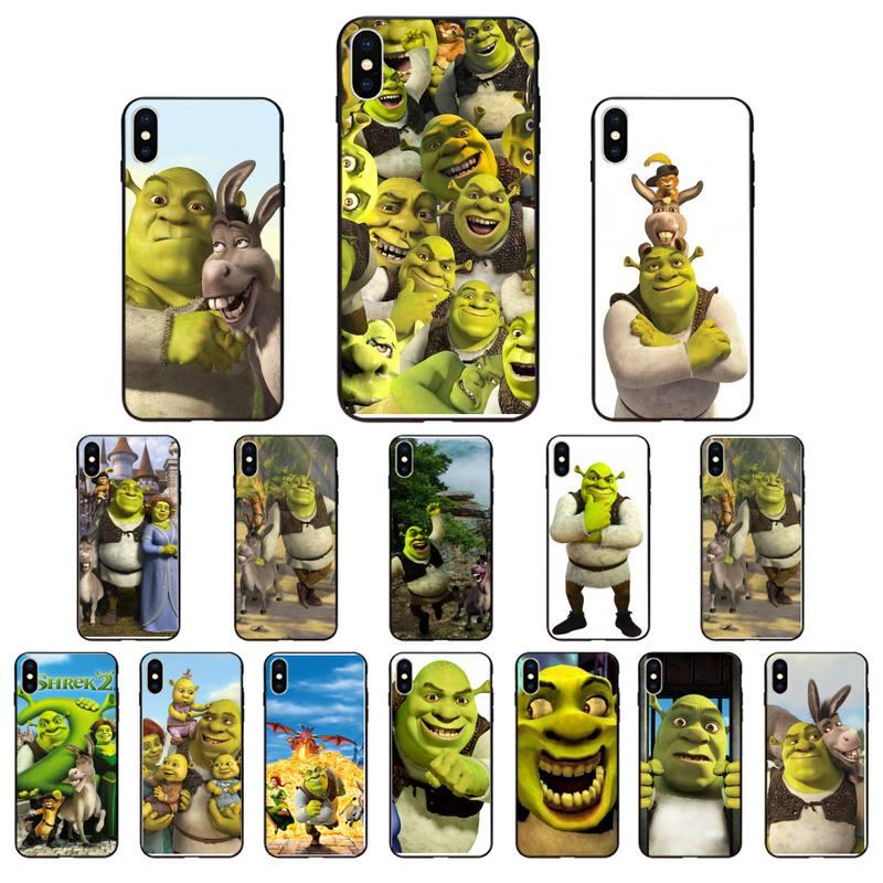 MaiYaCa interruptor de Shrek negro de silicona suave cubierta del teléfono TPU para iPhone SE2 11 Pro XS MAX XS XR 8 7 6 Plus 5 5S SE caso