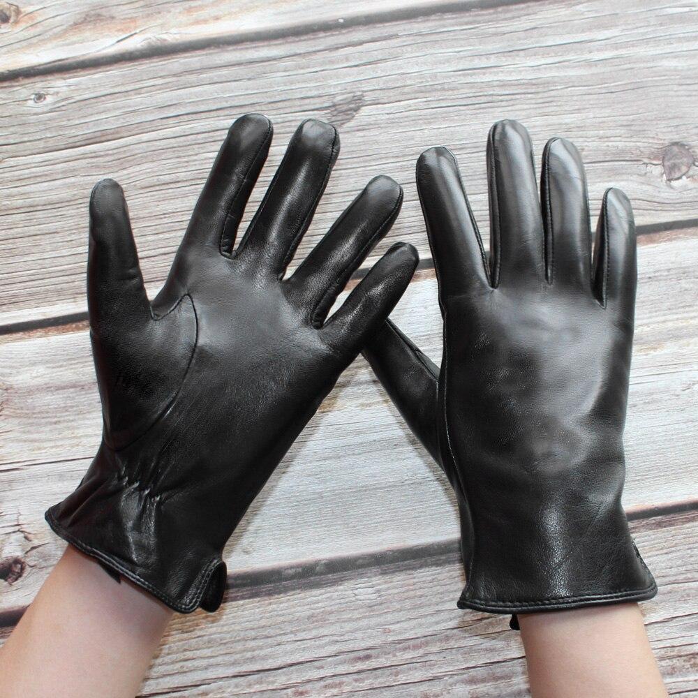 Bickmods новые мужские импортные перчатки из овчины Натуральная кожа Коралловая флисовая подкладка черные высококачественные модные черные з...