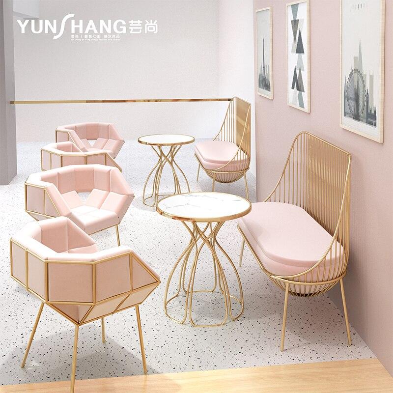 Светильник кие роскошные журнальные столики с лепестками и 2 стульями, наборы мебели, простые круглые столы, геометрические мозаичные мягки...