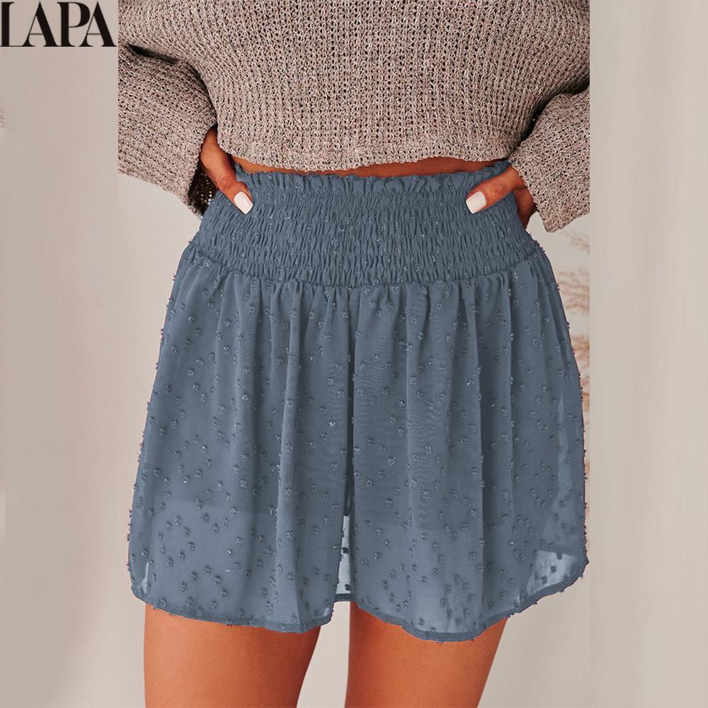 Summer High Waist Casual Shorts Ladies Loose Jacquard Shorts Women Solid Color Wide Leg Shorts Fashion Pockets Female Shorts недорого