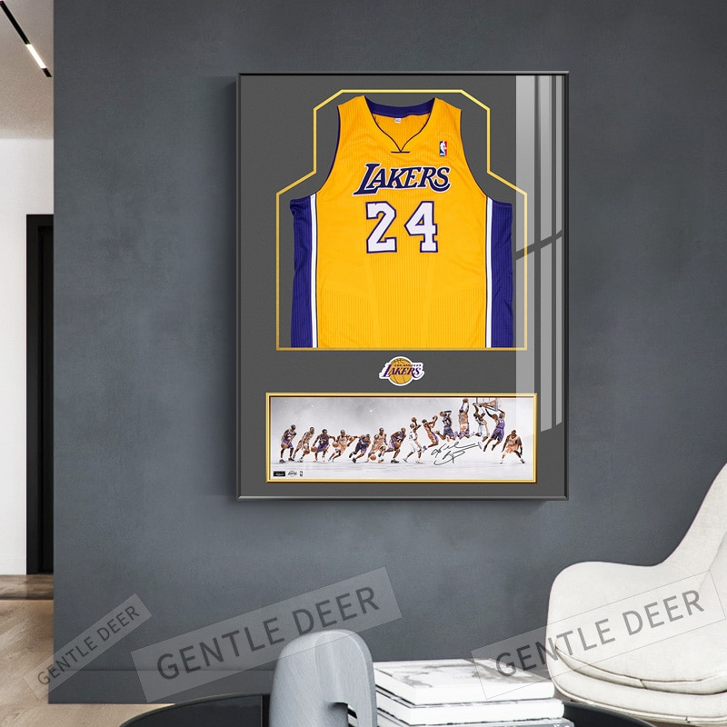 Clássico kobe bryant jérsei cartaz decorativo pintura da lona arte da parede sala de estar pendurado pintura quarto basquete estrela